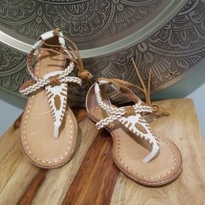 Dolce Vita Braided Leather Lace Up Keoni Sandal
